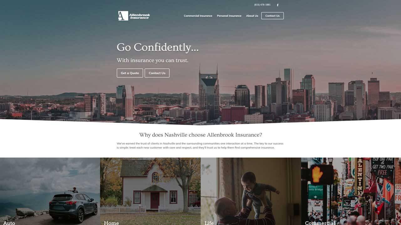 Allenbrook Insurance custom website design