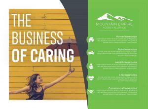 Mountain Empire Agency Alliance flyer design