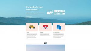Blackstone Insurance website design