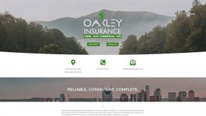 Oakley Insurance website design