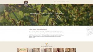 Sawyer Springs Vineyard custom web design